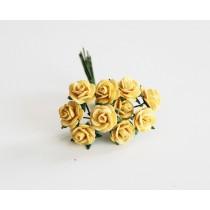 Mini розы 1 см - Желтые 144