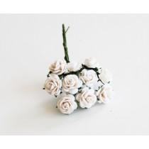 Mini розы 1 см - Белые 152 1 шт