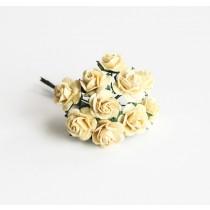 Mini розы 1,5 см - Св.желтые 147 1 шт