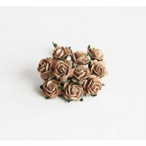 Mini розы 1,5 см - Кофе с молоком, 1 шт
