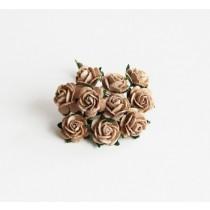 Mini розы 1 см - Кофе с молоком, 1 шт