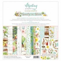 """1/2 набора бумаги """"Beauty in bloom"""" 30,5х30,5 см., 6 двусторонних листов, пл. 240 г/м"""