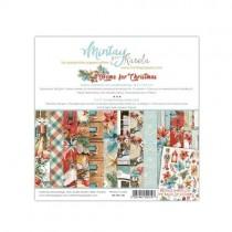"""1/2 набора бумаги """"Home for Christmas"""" 15х15 см., 12 двусторонних листа , пл. 240 г/м"""
