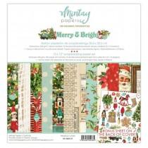 """1/2 Набор бумаги """"Merry & Bright"""" 30,5х30,5 см, 6 двусторонних листов, пл.240 г/м"""