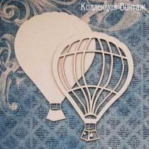 """Чипборд """"Воздушный шар 3Д"""" размер 9 см и 6,3 см, 2 шт."""