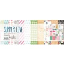 """Набор односторонней бумаги для скрапбукинга """"Summer Love - 2"""", 12 листов, 30х30см,  плотность 200г/м2, NFLEER003-2"""
