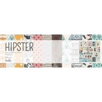 """Набор односторонней бумаги для скрапбукинга """"Hipster"""", 12 листов, 30х30см,  плотность 200г/м2, NFLEER012"""