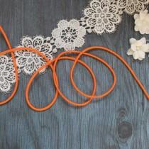 Резинка шляпная цв оранжевый 3мм