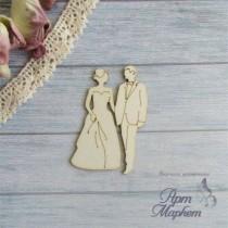 Свадебная пара РАЗМЕР:5х3,4 см