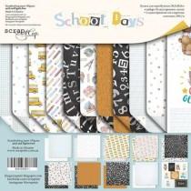 Набор двусторонней бумаги 30х30см от Scrapmir School Days 11л
