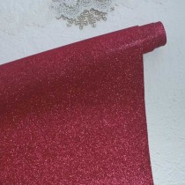 Отрез кожзама с глиттером 50х34 см., малиновый