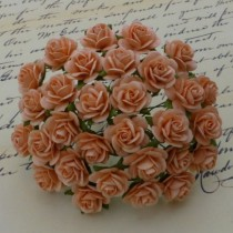Розочки 20мм -  PEACH MULBERRY PAPER OPEN ROSES 1шт