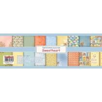 Набор бумаги для скрапбукинга 30,5х30,5 см 190 гр/м Мальчик и Девочка, 9 листов АНГЛ