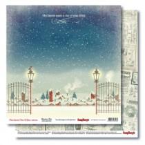 Бумага для скрапбукинга 30,5х30,5 см 190 гр/м двусторон С Рождеством! А снег идет