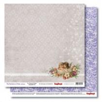 Бумага для скрапбукинга 30,5х30,5 см 190 гр/м двусторон Новогодний Пейзаж Рождество