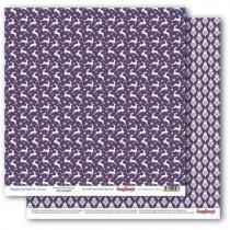 Бумага для скрапбукинга 30,5х30,5 см 190 гр/м, двусторон Зимние контрасты Звездная ночь. Ежевичный вкус, 1 лист