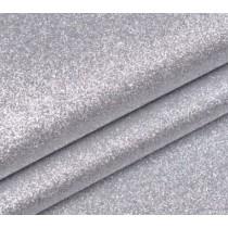Отрез кожзама с глиттером 50х34 см., серебро
