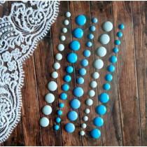 Эмалевые дотсы, оттенки голубого