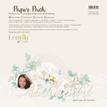 "Набор двусторонней бумаги ""Sentimental"" 6 листов, размер 30,5 x30,5 см, пл.250 г/м2"
