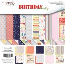 Набор двусторонней бумаги 30х30см от Scrapmir Birthday Party 10шт  SM2200011