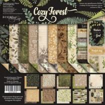 Набор двусторонней бумаги 20х20см от Scrapmir Cozy Forest 10 листов