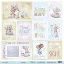 Лист односторонней бумаги 30x30 от Scrapmir Карточки 2 (ENG) из коллекции Mommy's Hero, пл.190 г/м