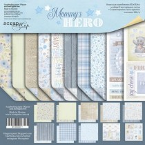 Набор двусторонней бумаги 30х30см от Scrapmir Mommy's Hero 10л., пл.190 г/м