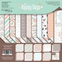 Набор двусторонней бумаги 30х30см от Scrapmir Happy Days 10л.
