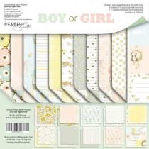 Набор двусторонней бумаги 30х30см от Scrapmir Boy or Girl 11л