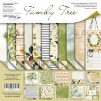 Набор двусторонней бумаги 30х30см от Scrapmir Family Tree 11л