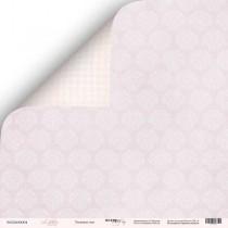 Лист двусторонней бумаги 30x30 от Scrapmir Лиловые сны из коллекции Little Bunny  SM2400004