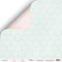 Лист двусторонней бумаги 30x30 от Scrapmir Бирюза из коллекции Little Bunny  SM2400006