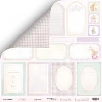 Лист двусторонней бумаги 30x30 от Scrapmir Карточки из коллекции Little Bunny  SM2400009