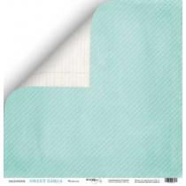 Лист двусторонней бумаги 30x30 от Scrapmir Модница из коллекции Sweet Girls  SM2500004