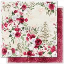 """Лист двусторонней бумаги """"Antique garden"""" коллекция """"Antique garden"""" 190гр,30,5*30,5см"""