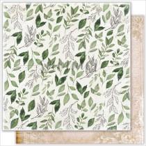 """Лист двусторонней бумаги """"Fallen leaves"""" коллекция """"Antique garden"""" 190гр,30,5*30,5см"""