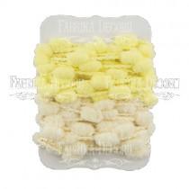 Набор тесьмы с помпонами (молочный, св.желтый)