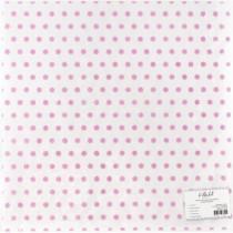 """Веллум с флоковым напылением """"Розовый горошек"""", размер 305х305 мм"""