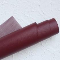 Отрез кожзама на тонкой тканевой основе 50х35 см., бордовый