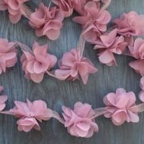 Цветы шифоновые - сиреневые теплые, 1 шт., диаметр 5 см.