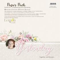 "Набор двусторонней бумаги ""Yesterday"" 6 листов, размер 30,5 x30,5 см, пл.250 г/м2"