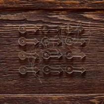 Анкеры стрелочка акрил 1,5 мм 12 шт (2,5х1 см 1 элем.), ZA003