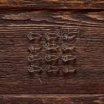 Анкеры цветочек акрил 1,5 мм 12 шт (1,7х0,8 см 1 элем.), ZA004