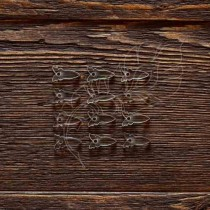 Анкеры бабочка акрил 1,5 мм 12 шт (1,7х0,9 см 1 элем.), ZA005