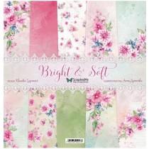 """Набор бумаги """"Bright & Soft Flowers"""" 30,5x30,5 см, 5 двусторонних листов, пл. 250 гр."""