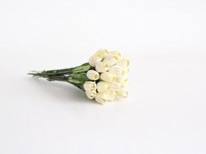 Тюльпаны - Св.желтые диаметр ок. 1 см высота ок. 2 см длина стебля ок. 11 см, 1 шт