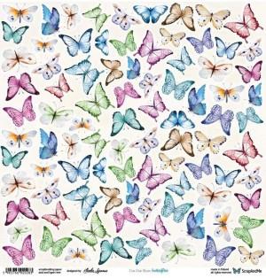 "Лист для вырезания ""Butterflies"", 30х30 см., пл. 250 гр."