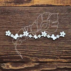 Бордюр из цветочков и бабочек (12х1,8см)