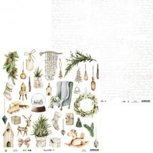 Лист бумаги из коллекции Cosy Winter 07, 30,5х30,5 см, пл.240г/м