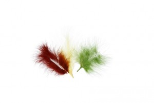 Перья декоративные  6 -  10 см 3 г ± 0.5 г  PLU-03-08 Осень (ассорти)